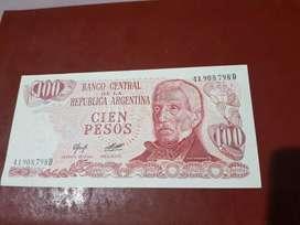 Argentina-Billete de 100 pesos año 1973  Serie C-sin circular Se entrega el billete de la foto
