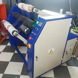 Maquina rebobinadora de strech film