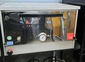 Horno pizero capacidad 6 bandejas + soporte + 3 moldes chapa reforzada