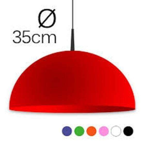 Lampara Colgante Policarbonato Color Rubi Faroluz Art. 326 0