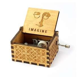 Caja Musical - John Lennon Imagine Madera Regalo