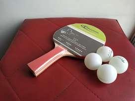 Raqueta tenis de mesa + 4 Bolas Weston