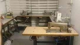 Taller textil, Maquinas de coser
