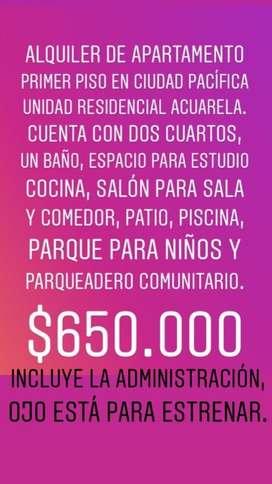 Apartamento en ciudad pacifica detras de la Autonoma $650.000