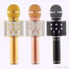 Micrófono Karaoke Inalámbrico Bluetooth Ws-858 Recargable nuevo modelo