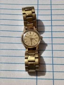 Fino reloj suizo mido automático original laminado en oro de 20 micrones