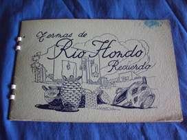 antiguo álbum recuerdo termas de rio hondo 1950