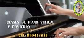 Clases de piano Y órgano virtuales y a domicilio