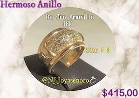 Hermoso Anillo oro Rosa 18K