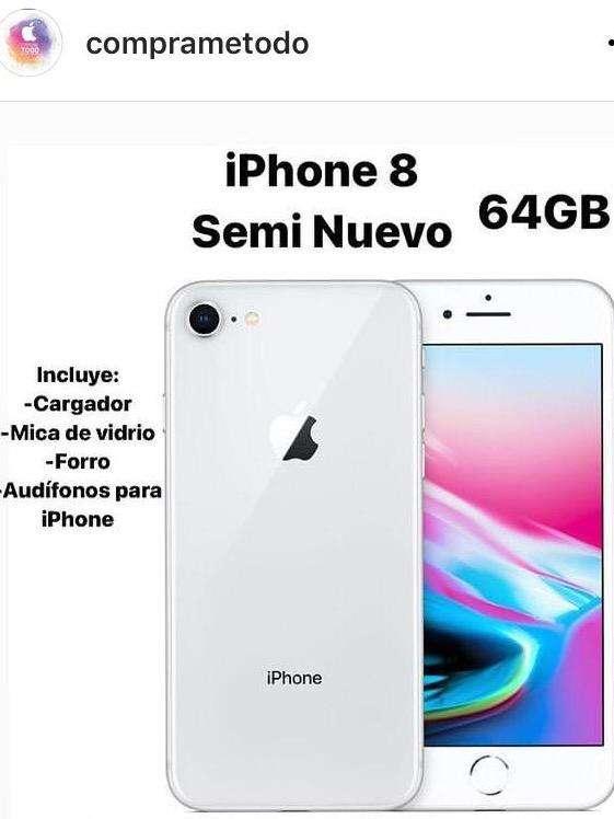 Iphone 8 64gb comp nuevo 0