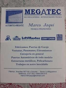 Trabajos garantizados en metal mecanica