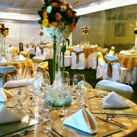 Alquiler de vajilla, mesas, sillas todo para tu eventos