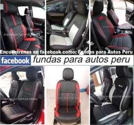 FUNDAS PARA ASIENTOS DE AUTOS TIPO TAPIZADO EN TACTO CUERO AUTOMOTRIZ