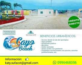 TERRENOS PLAYEROS A 2 HORAS DE GUAYAQUIL, LOTIZACIÓN PRIVADA CAYO BEACH, RUTA DEL SPONDYLUS | SD2