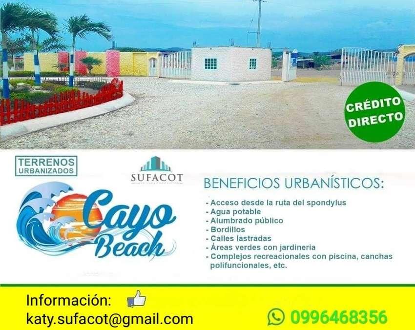 TERRENOS PLAYEROS A 2 HORAS DE GUAYAQUIL, LOTIZACIÓN PRIVADA CAYO BEACH, RUTA DEL SPONDYLUS | SD2 0