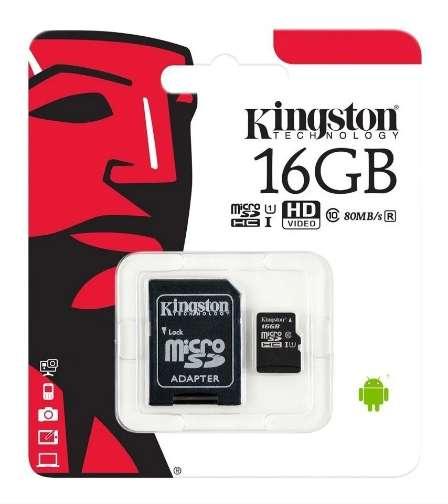 MEMORIA MICRO SD 16GB CLASE 10 TARJETA DE MEMORIA CON ADAPTADOR  - TARJETAS MEMORIAS 16GB 0
