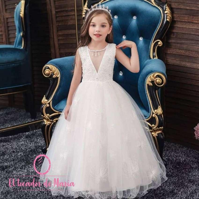 Vestido Blanco Collar Adelante 0