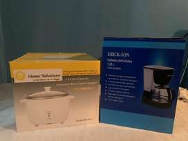 Olla arrocera ( Home Solution) Y Coffe maker (ERICK-SON)