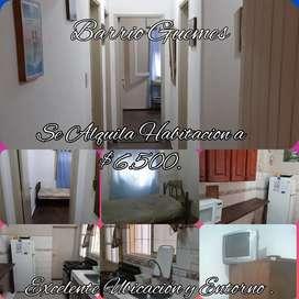 Alquilo Habitación en Barrio Guemes a $6.500