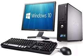 Aprovecho computadoras dell mini intel core 2 dúo con monitor 17 teclado mauso garantía