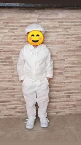 Atuendo de bautizo para niño 2 a 2 años y medio