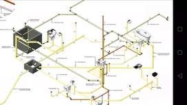 Diseños hidráulicos, sanitarios, dibujo de planos