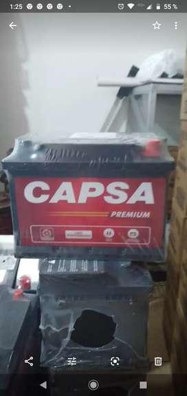 Baterías Capsa Premium 11 placas modelo wi libre mantenimiento 185 soles dejando casco consultar por servicio delivery