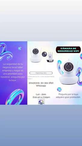 Gran promoción cámara de seguridad wifi ideal para tu negocio local  empresa y hogar