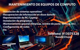 Mantenimiento de pc laptop