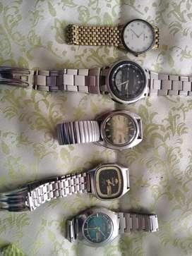 Vendo relojes de colección. Marcas originales