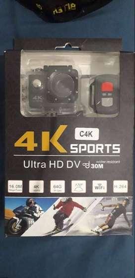 Camara 4K Sport tipo Gopro + Monopod Selfie Universal 3 en 1, Montaje camara Gopro
