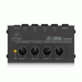 Amplificador de audífonos BEHRINGER  HA400 (producto nuevo)