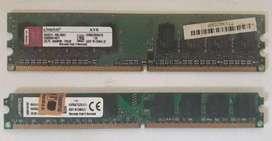 SE VENDEN MEMORIAS RAM DDR2 DE 1GB - 2GB PARA PC