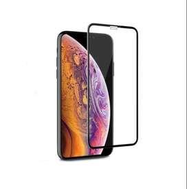 Vidrio Templado Glass Reforzado 9 D iPhone XR Black