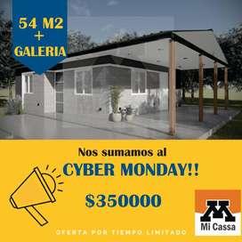 CASA PREFABRICADA DE 53 M2 CON GALERIA