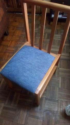 Vendo o Cambio 6 silletas de pino(recibo por articulo de mi interés)