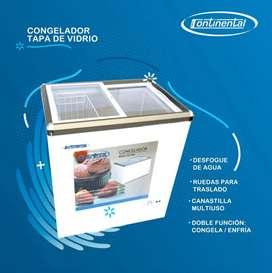 Congelador Continental Tapa de Vidrio VARIOS PIES