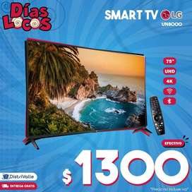 "Televisor Smart TV LG 75"" UHD 4K con Magic Control UN8000"