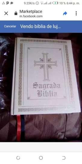 VENDO HERMOSA BIBLIA CATÓLICA ILUSTRADA DE LUJO PARA COLOCAR EN ATRIL