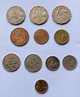 Australia lote de monedas