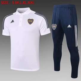 Conjunto Boca Juniors polo + sudadera 2020/21