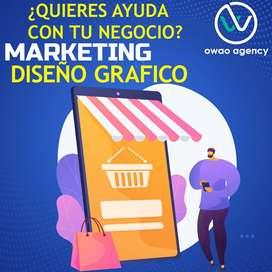 Manejo Redes Sociales - Marketing Digital - Diseño grafico
