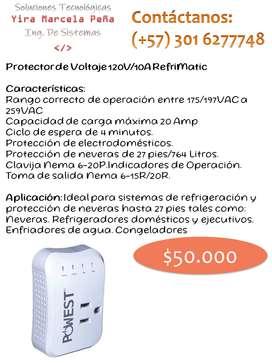 Refrimatic Protector de Voltaje 120V/10A