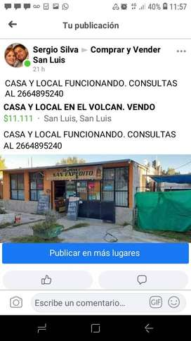 LOCAL Y CASA EN EL VOLCAN SAN LUIS