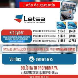 KIT DE 4 COMPUTADORAS CORE 2 DUO CYBER! COUNTER PARA LA CENTRAL GRATIS