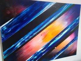 Cuadro abstracto galaxia
