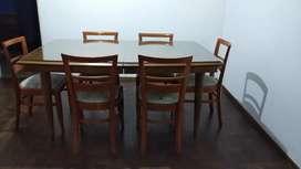 Mesa + 6 sillas (con vidrio)