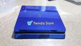 Skin Ps4 slim Cromado Azul