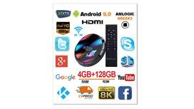 TV BOX   tv Smart 128 gigabites 4 ram 8k