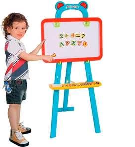 Tablero Infantil Didactico 3en 1 Rosado Niñ@s